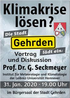 """Einladung zum Vortrag """"Klimakrise lösen?"""" (31.01.2020)"""
