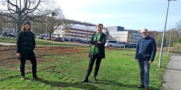 Frauke Patzke, die GRÜNE Kandidatin für die Regionspräsidentschaft besucht Gehrden