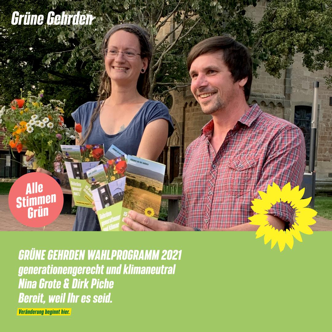GRÜNES WAHLPROGRAMM Gehrden 2021: generationengerecht und klimaneutral
