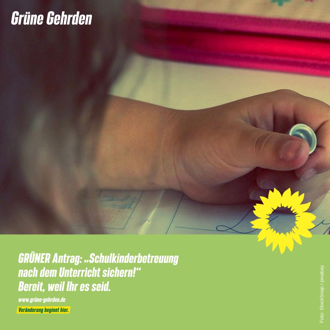"""GRÜNER Antrag: """"Schulkinderbetreuung nach dem Unterricht sichern!"""""""