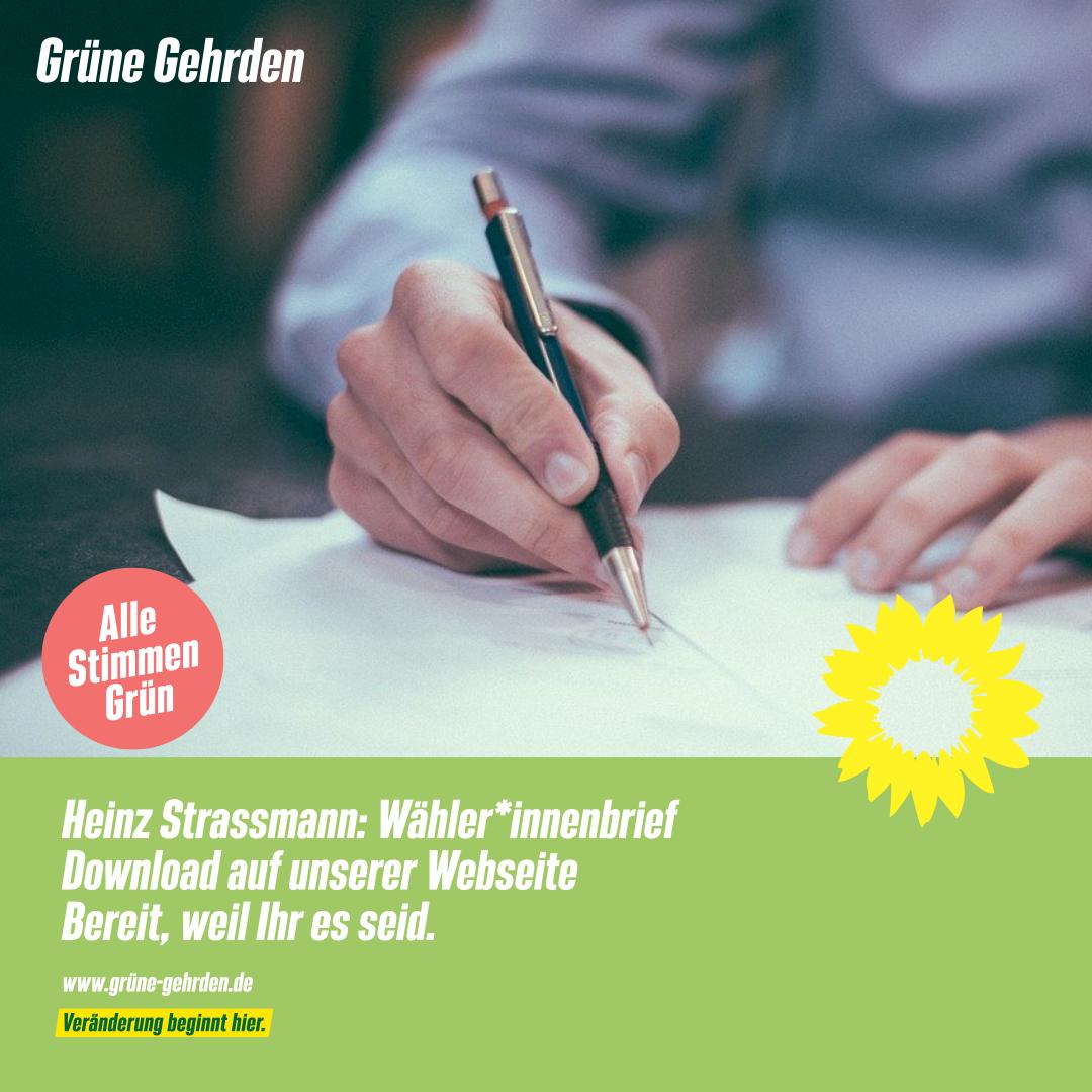 Heinz Strassmann: Wähler*innenbrief zum download