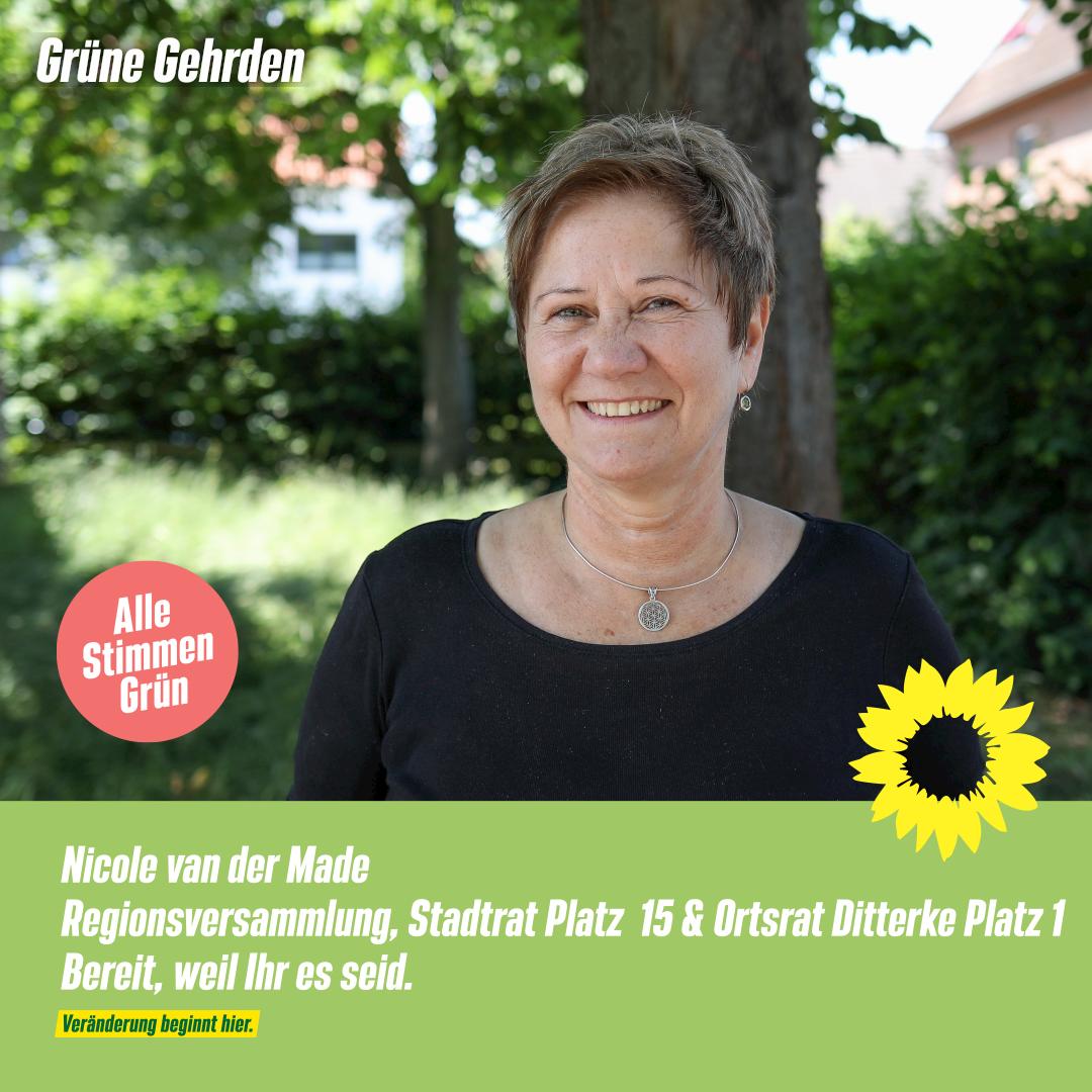 4 Fragen an: Nicole van der Made – Regionsversammlung, Stadtrat Platz 15 & Ortsrat Ditterke Platz 1