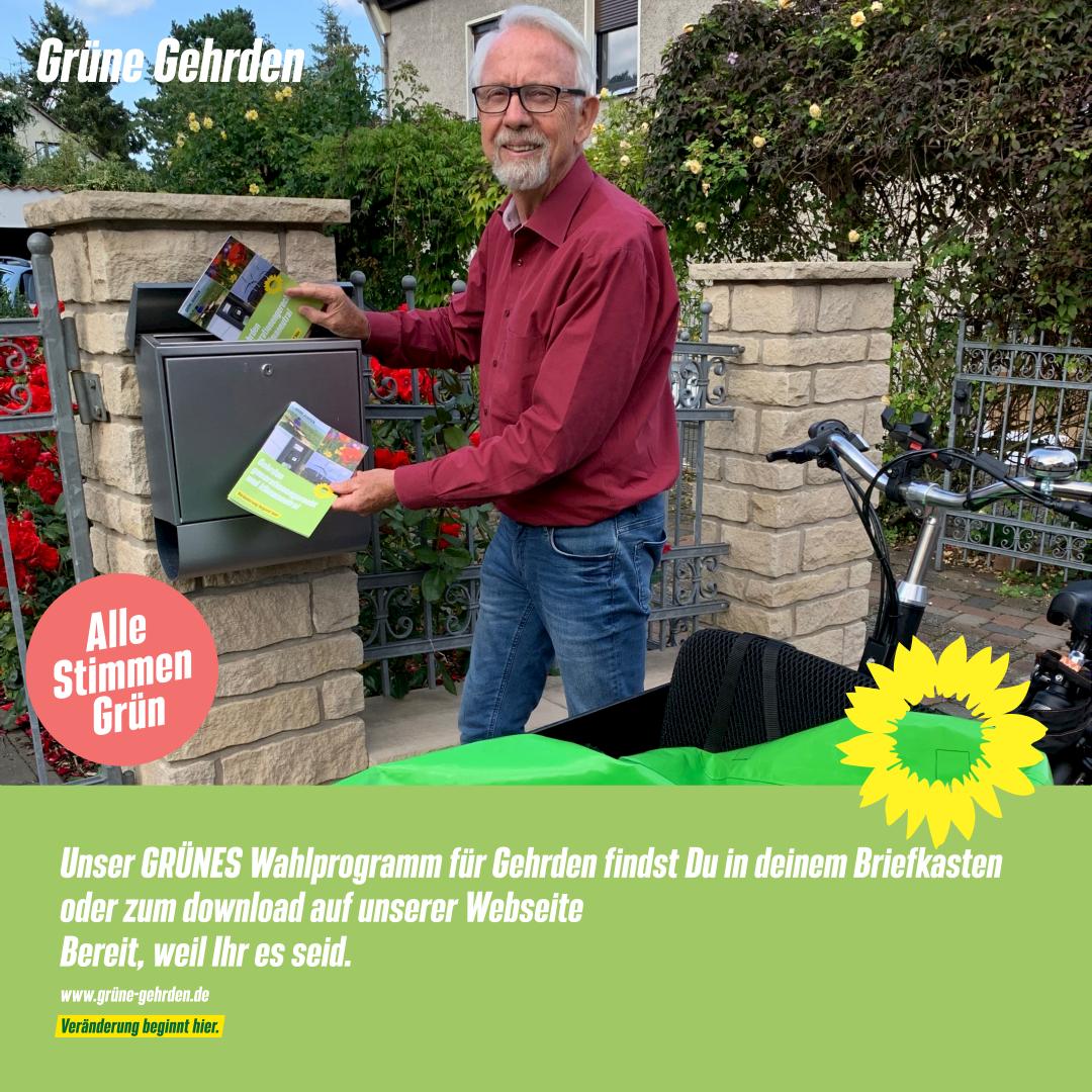 Unser GRÜNES Wahlprogramm für Gehrden findst Du in deinem Briefkasten oder zum download auf unserer Webseite
