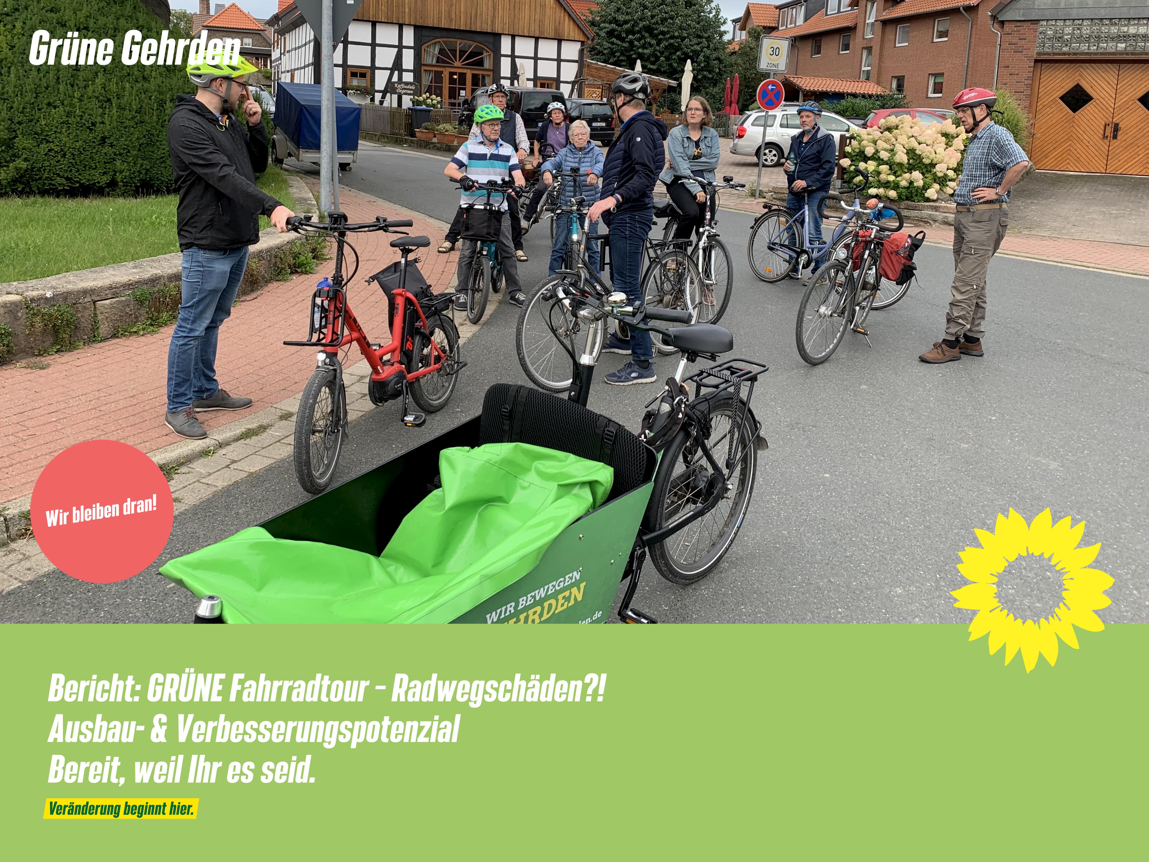 Bericht: GRÜNE Fahrradtour – Radwegschäden?! – Ausbau- & Verbesserungspotenzial