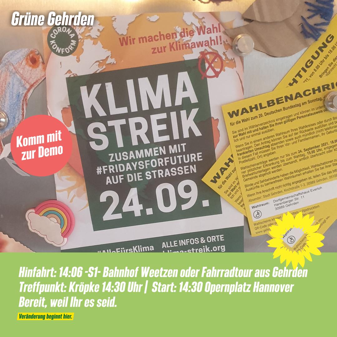 Globaler Klimastreik – Freitag 24.09.2021