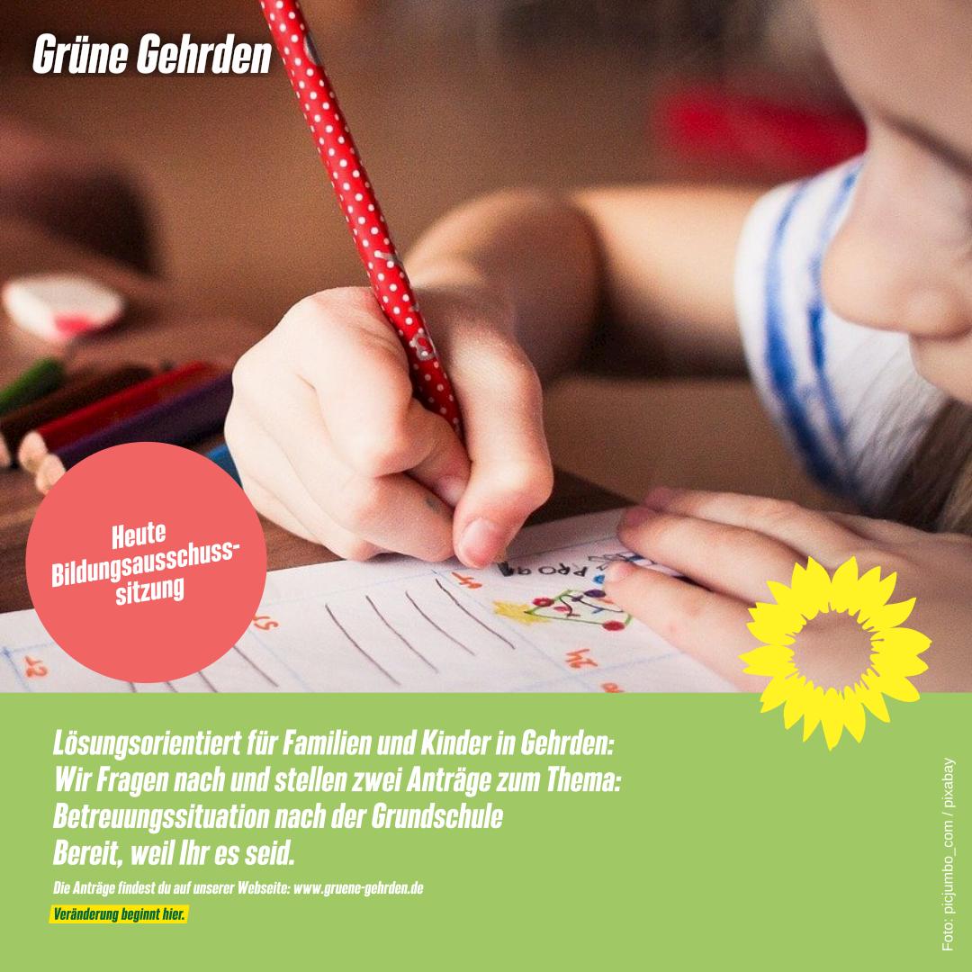 HEUTE: Bildungsausschusssitzung, Di. 21.09.2021!